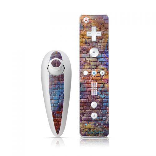 Painted Brick Wii Nunchuk/Remote Skin
