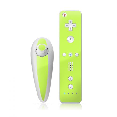 Solid State Lime Wii Nunchuk/Remote Skin