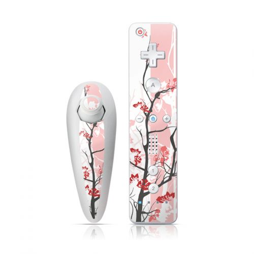 Pink Tranquility Wii Nunchuk/Remote Skin