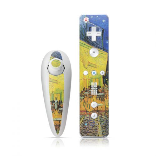 Cafe Terrace At Night Wii Nunchuk/Remote Skin