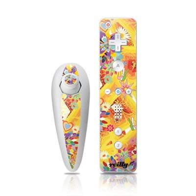 Woodflower Wii Nunchuk/Remote Skin