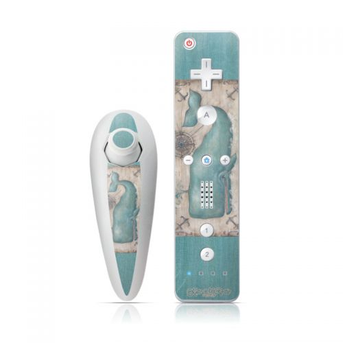 Whale Watch Wii Nunchuk/Remote Skin