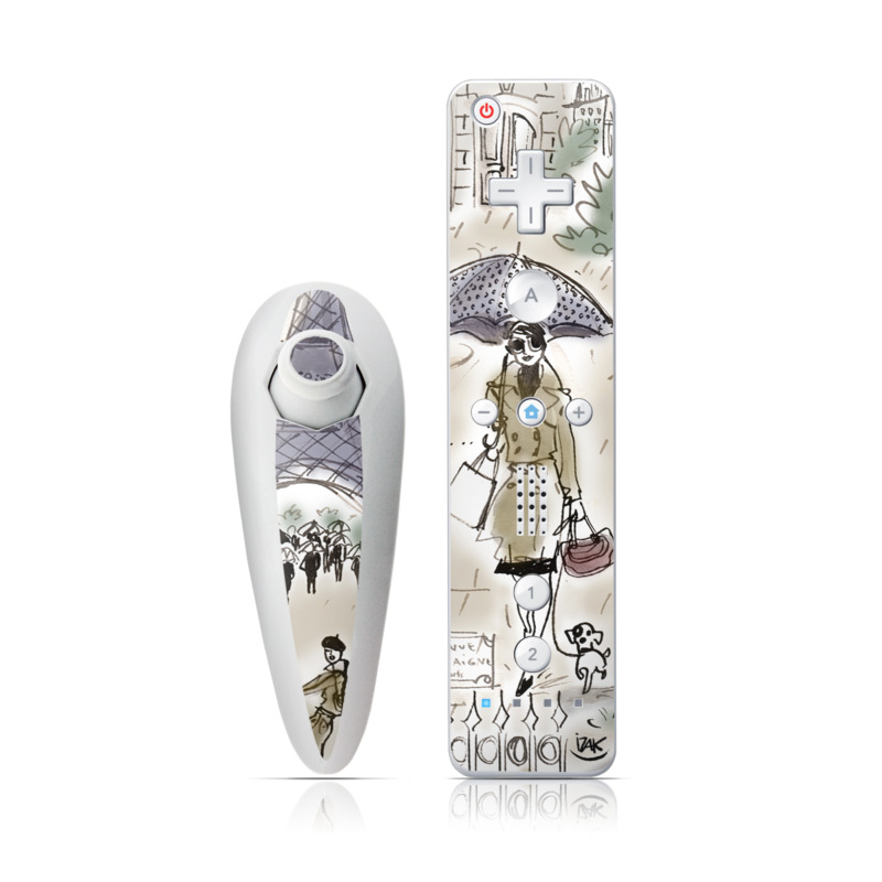 Ah Paris Wii Nunchuk/Remote Skin