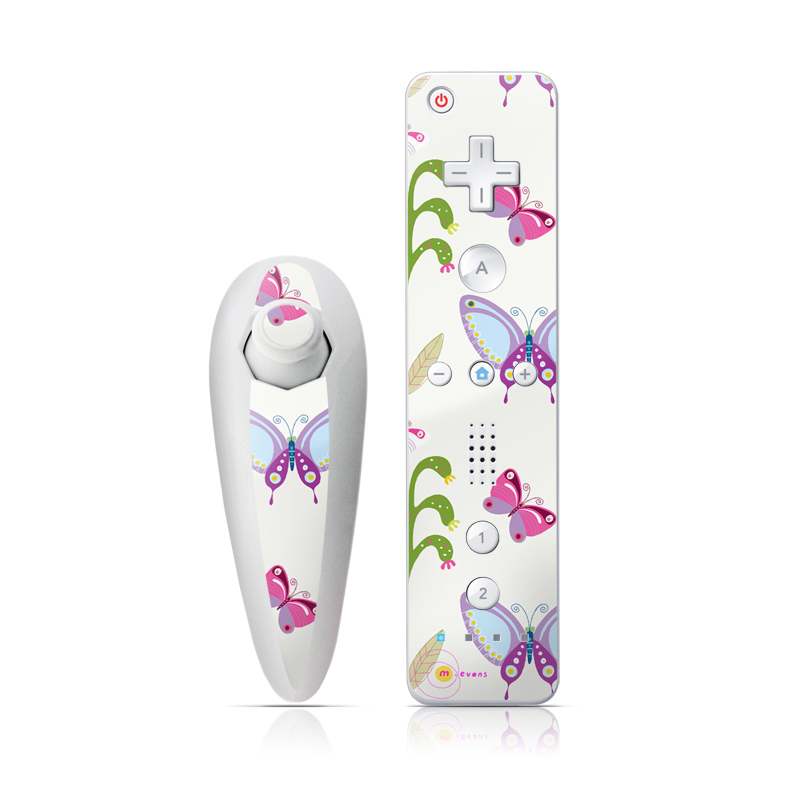 Butterfly Field Wii Nunchuk/Remote Skin