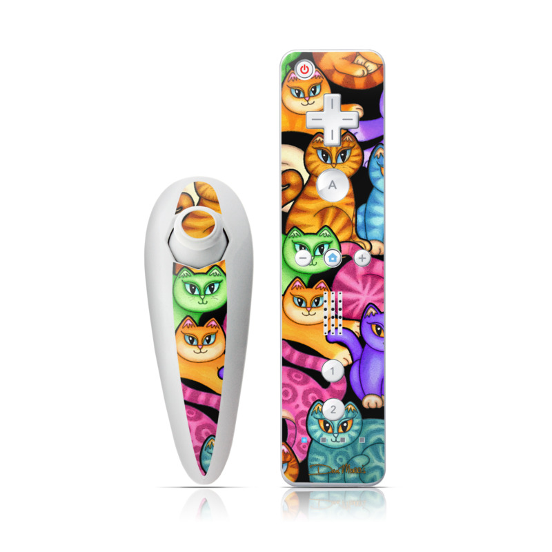 Colorful Kittens Wii Nunchuk/Remote Skin