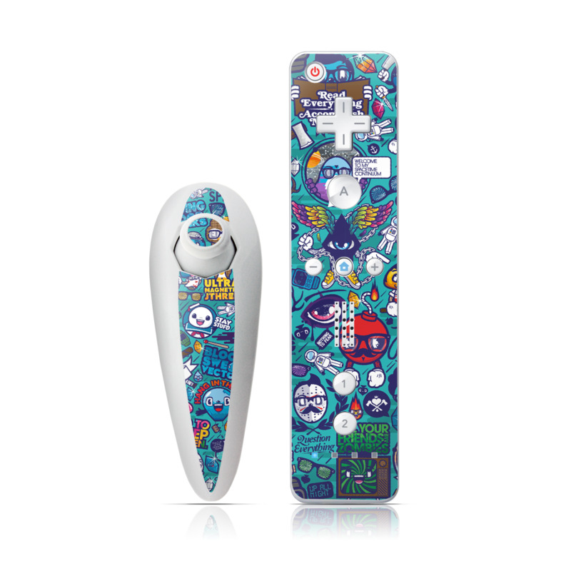 Cosmic Ray Wii Nunchuk/Remote Skin