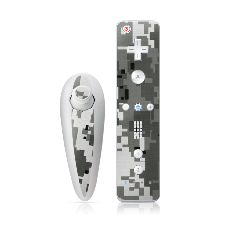 Digital Urban Camo Wii Nunchuk/Remote Skin