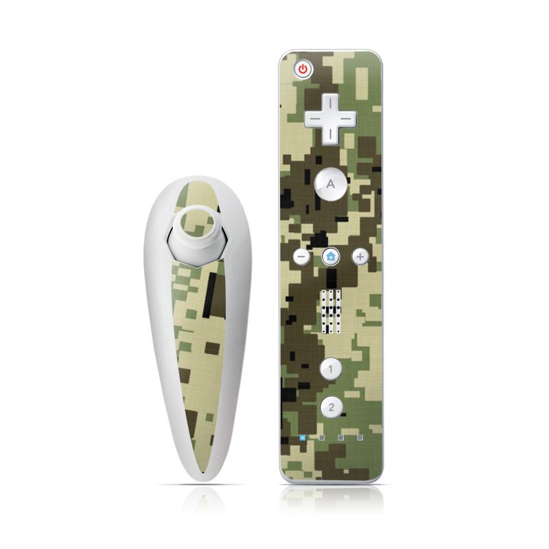 Digital Woodland Camo Wii Nunchuk/Remote Skin