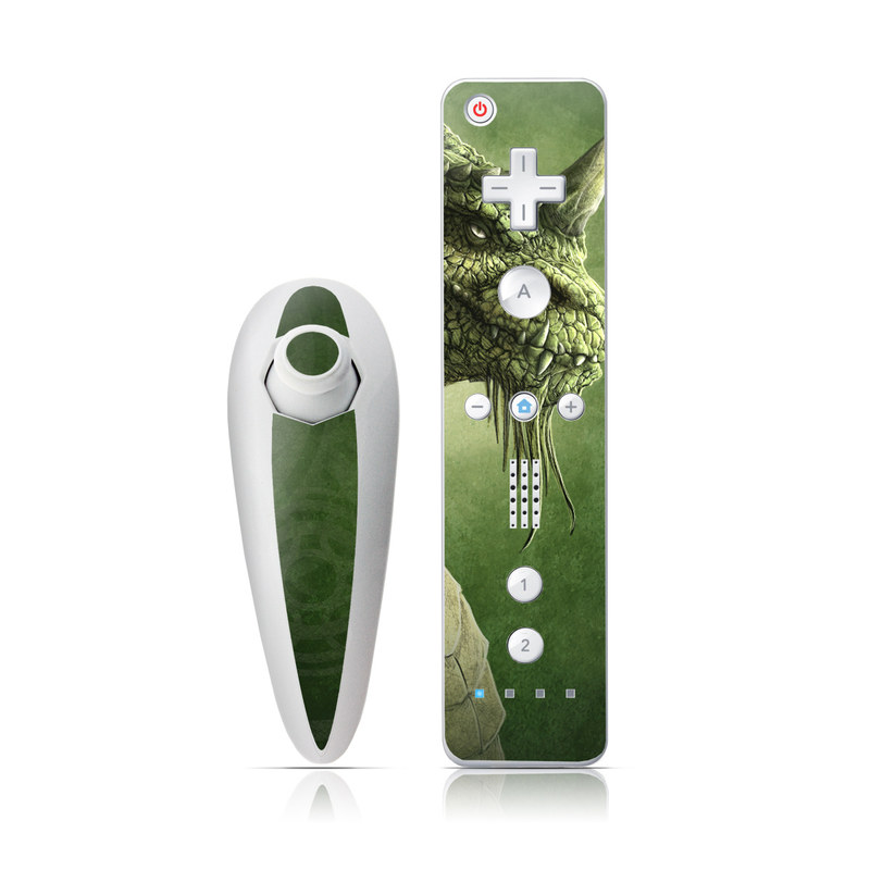 Green Dragon Wii Nunchuk/Remote Skin
