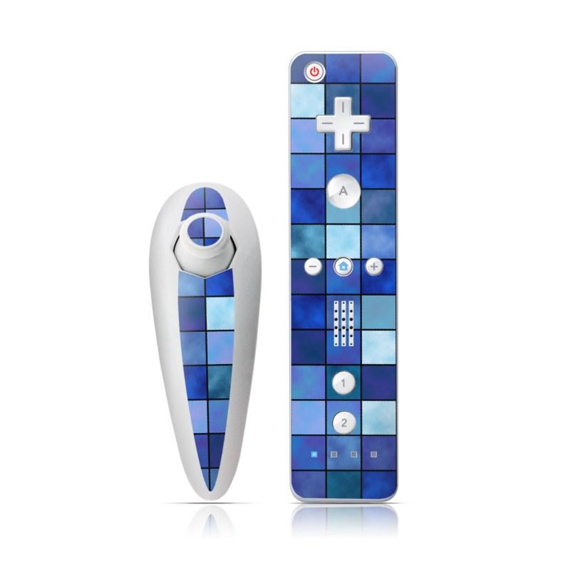 Blue Mosaic Wii Nunchuk/Remote Skin