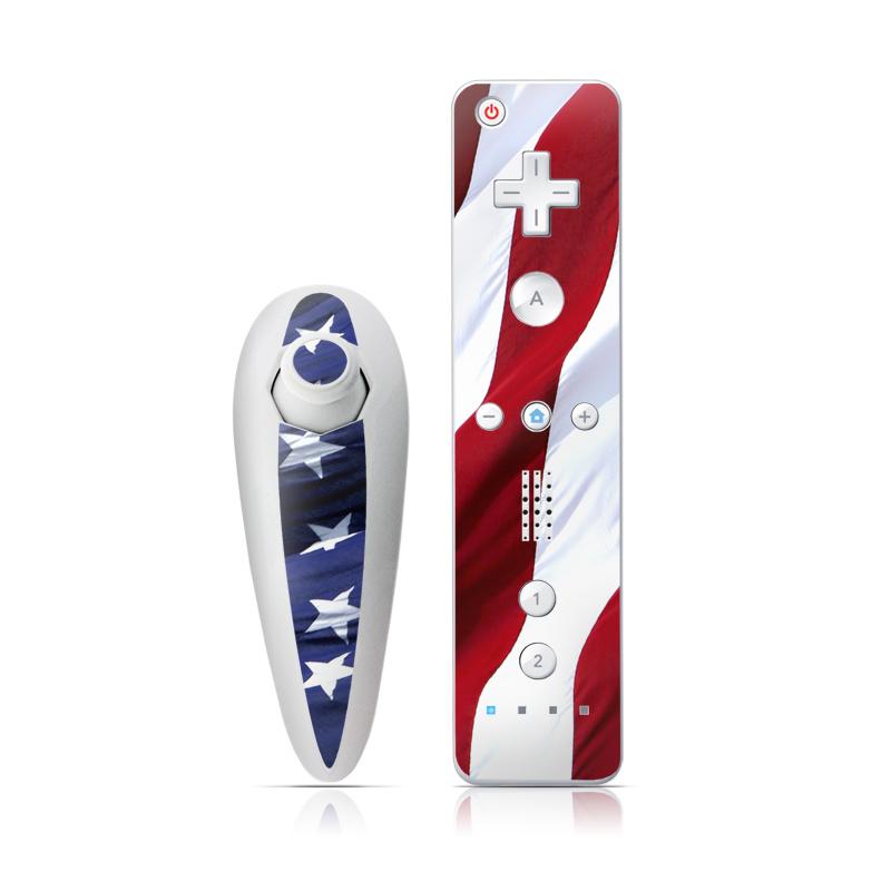 Patriotic Wii Nunchuk/Remote Skin