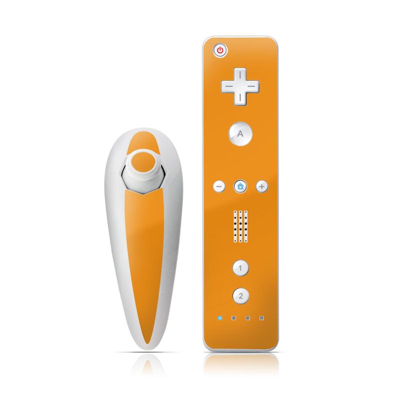 Solid State Orange Wii Nunchuk/Remote Skin