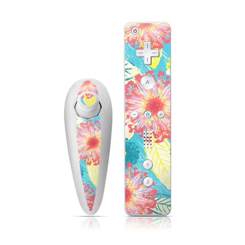 Tickled Peach Wii Nunchuk/Remote Skin