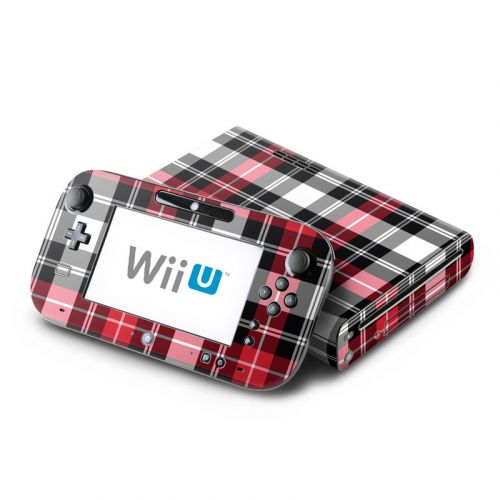 Red Plaid Nintendo Wii U Skin