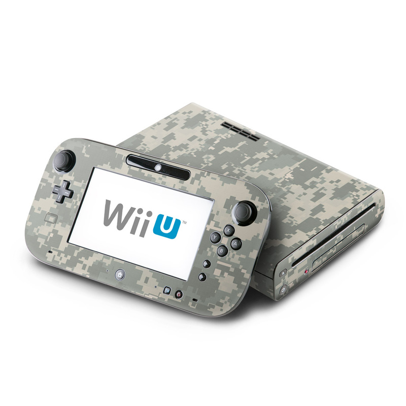 Wii U Skin design of Military camouflage, Green, Pattern, Uniform, Camouflage, Design, Wallpaper with gray, green colors