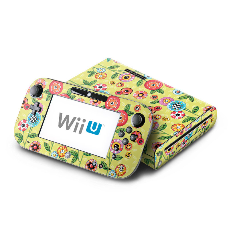 Button Flowers Nintendo Wii U Skin