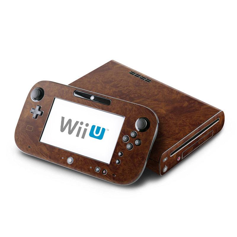 Dark Burlwood Nintendo Wii U Skin