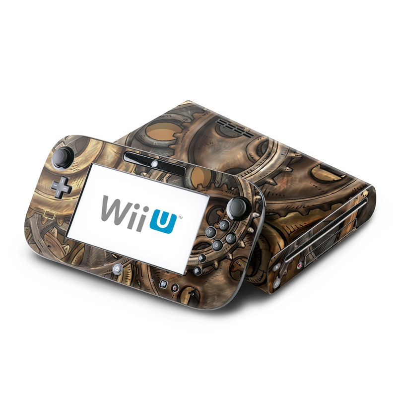 Wii U Skin design of Metal, Auto part, Bronze, Brass, Copper with black, red, green, gray colors