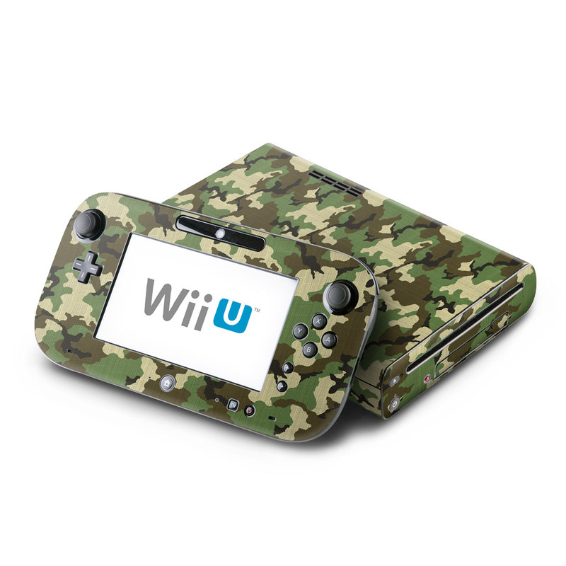 Woodland Camo Nintendo Wii U Skin