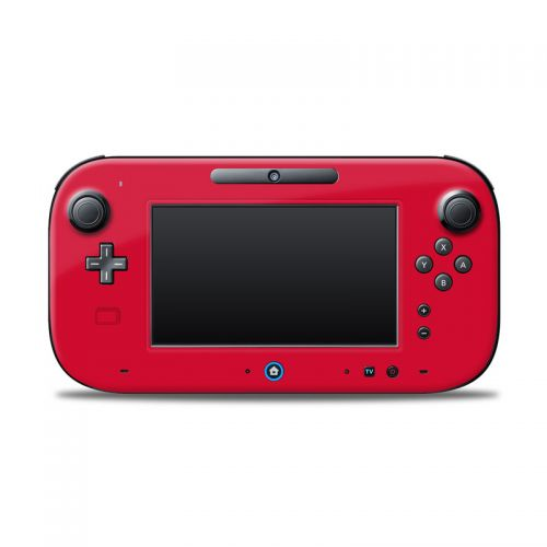Solid State Red Nintendo Wii U Controller Skin