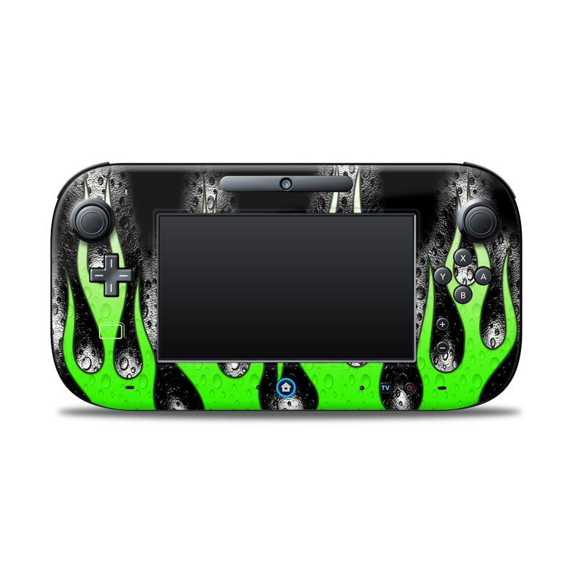 Acid Flames Nintendo Wii U Controller Skin