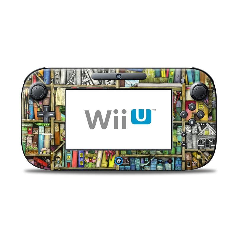Bookshelf Nintendo Wii U Controller Skin
