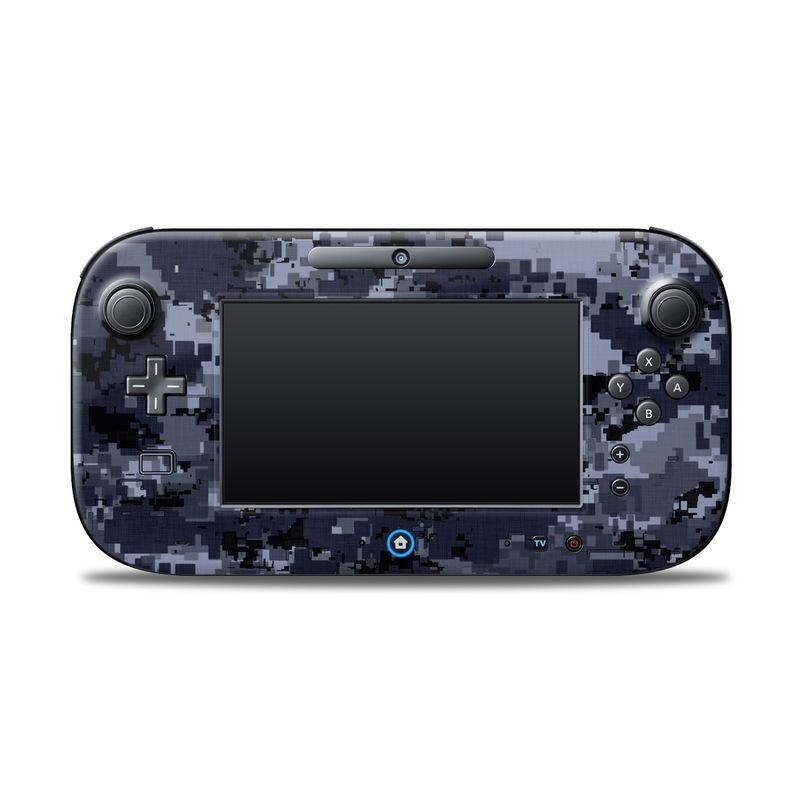 Digital Navy Camo Nintendo Wii U Controller Skin