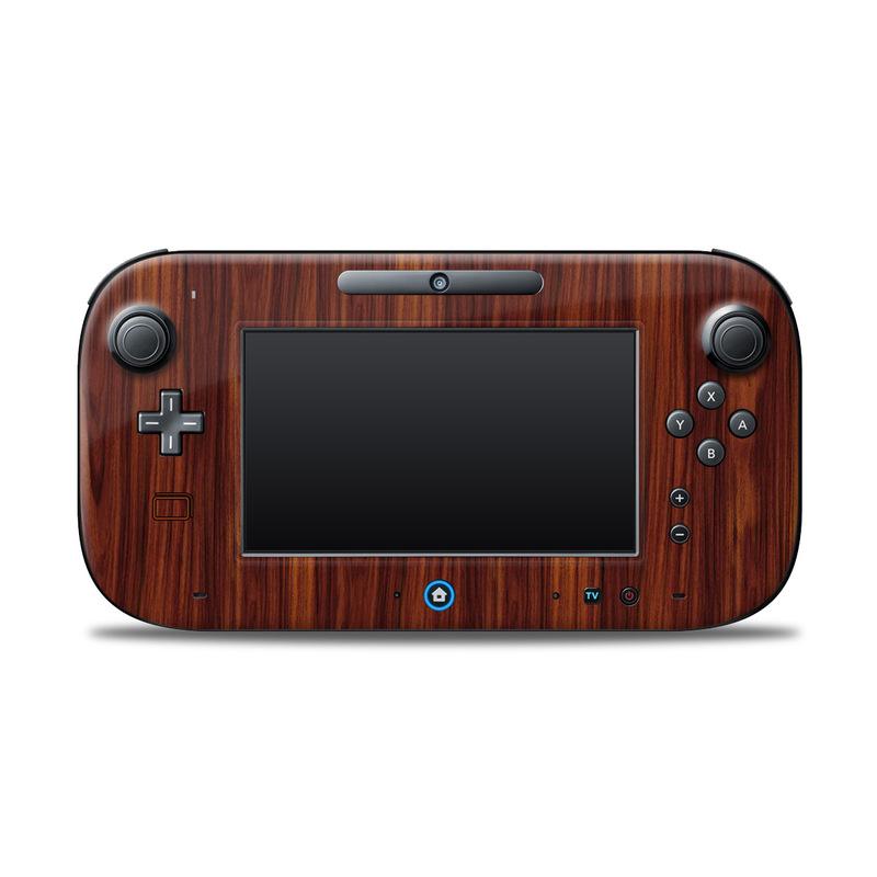 Dark Rosewood Nintendo Wii U Controller Skin