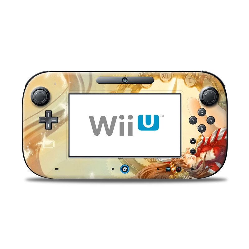 Wii U Controller Skin design of Illustration, Ceiling, Fictional character, Cg artwork, Art with gray, green, red, pink, yellow, black colors