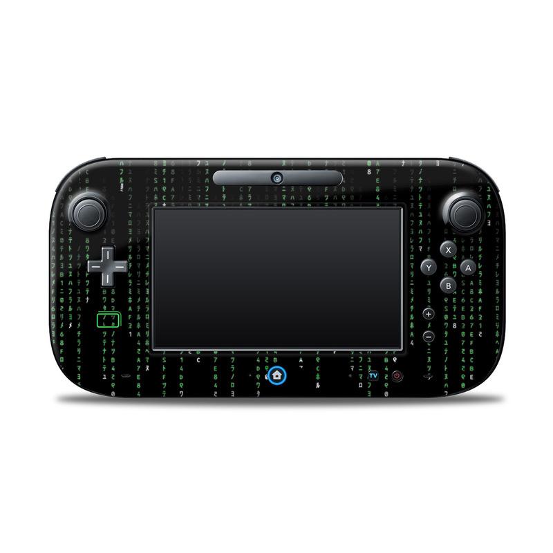 Matrix Style Code Nintendo Wii U Controller Skin