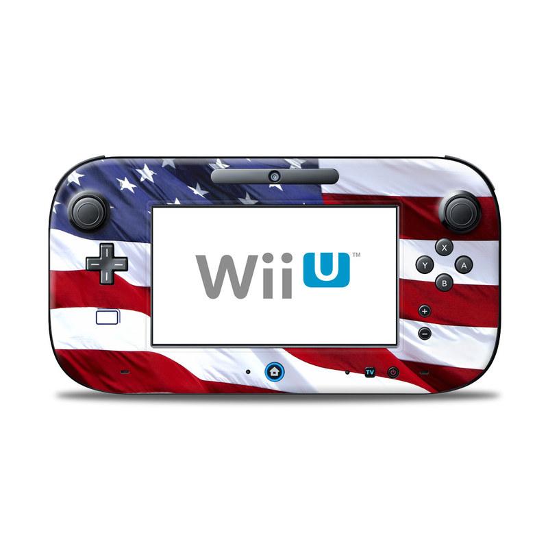 Patriotic Nintendo Wii U Controller Skin