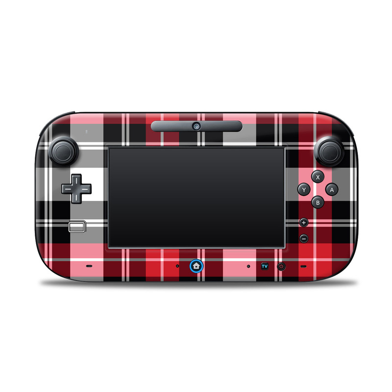 Red Plaid Nintendo Wii U Controller Skin