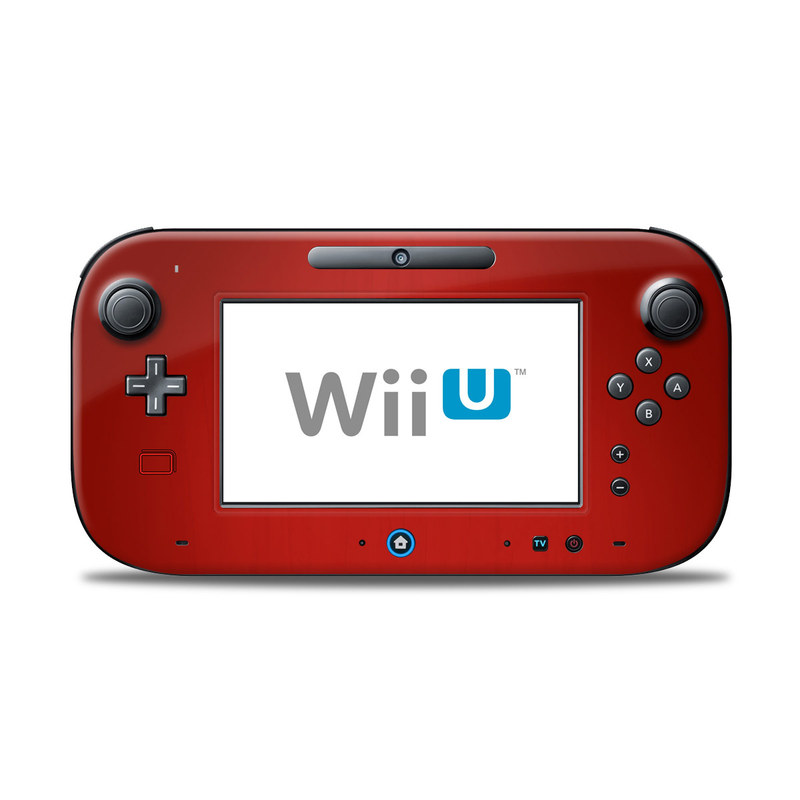 Wii U Controller Skin design of Red, Maroon, Orange, Brown, Peach, Pattern, Magenta with red colors