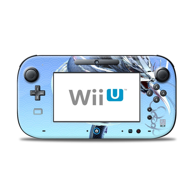 Wii U Controller Skin design of Illustration, Graphic design, Fictional character with purple, gray, blue, black colors