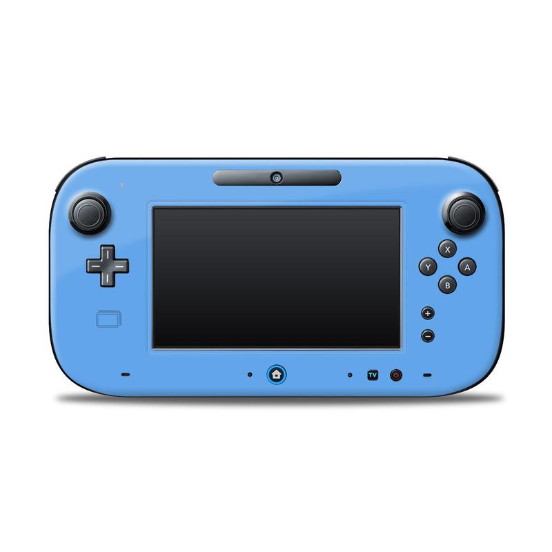 Solid State Blue Nintendo Wii U Controller Skin