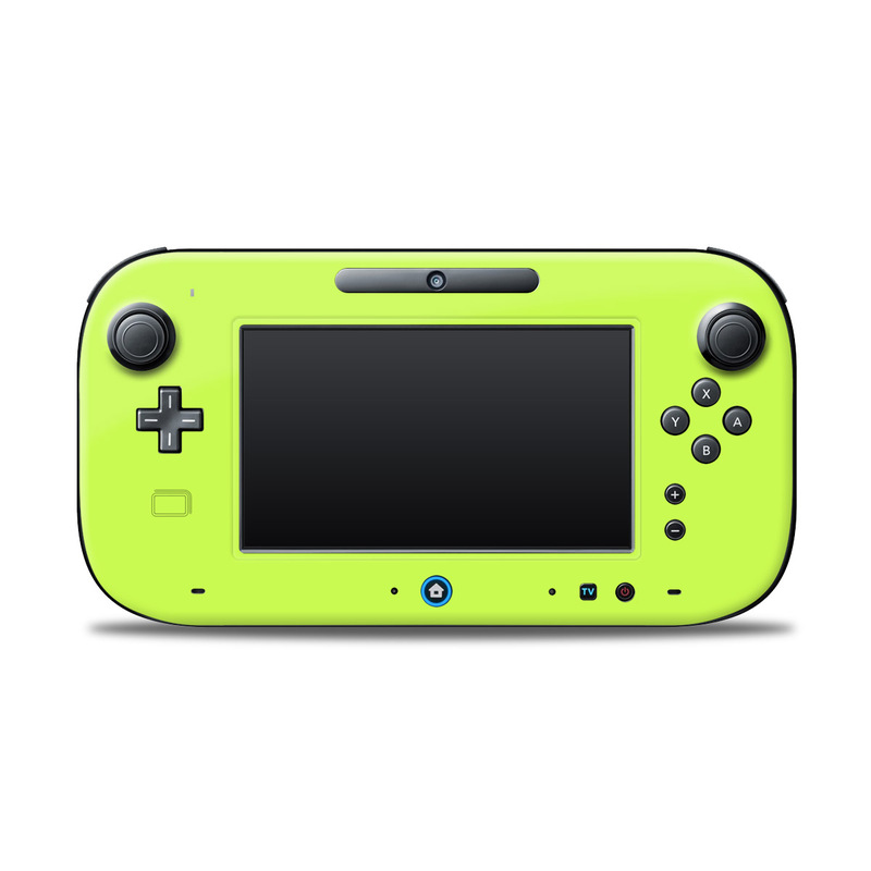 Solid State Lime Nintendo Wii U Controller Skin