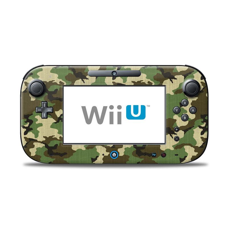 Woodland Camo Nintendo Wii U Controller Skin