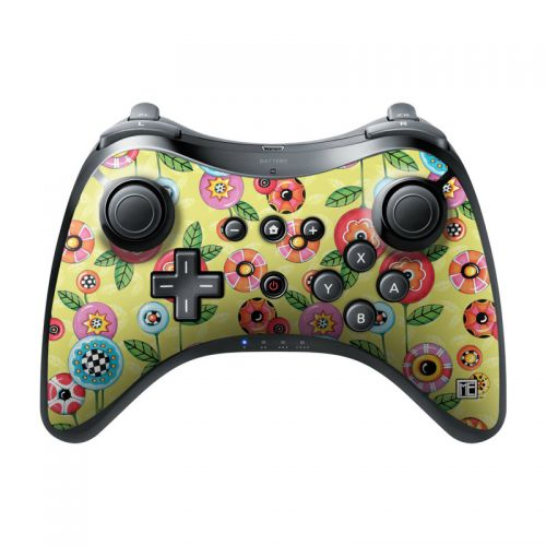 Button Flowers Wii U Pro Controller Skin