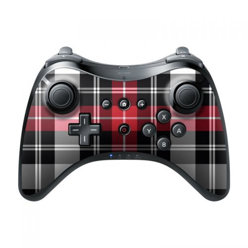 Red Plaid Wii U Pro Controller Skin