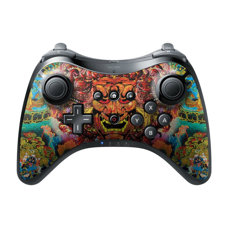 Wii U Pro Controller Skin design of Art, Psychedelic art, Visual arts, Illustration, Fictional character, Demon with red, orange, yellow colors