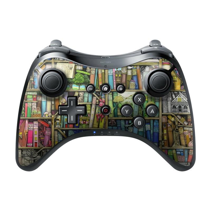 Bookshelf Wii U Pro Controller Skin