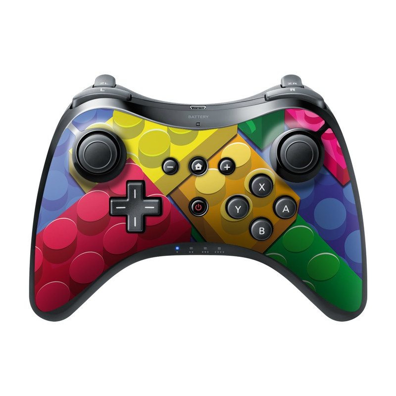 Wii U Pro Controller Skin design of Colorfulness, Pattern, Circle, Games, Play with red, blue, green, yellow, orange, pink colors