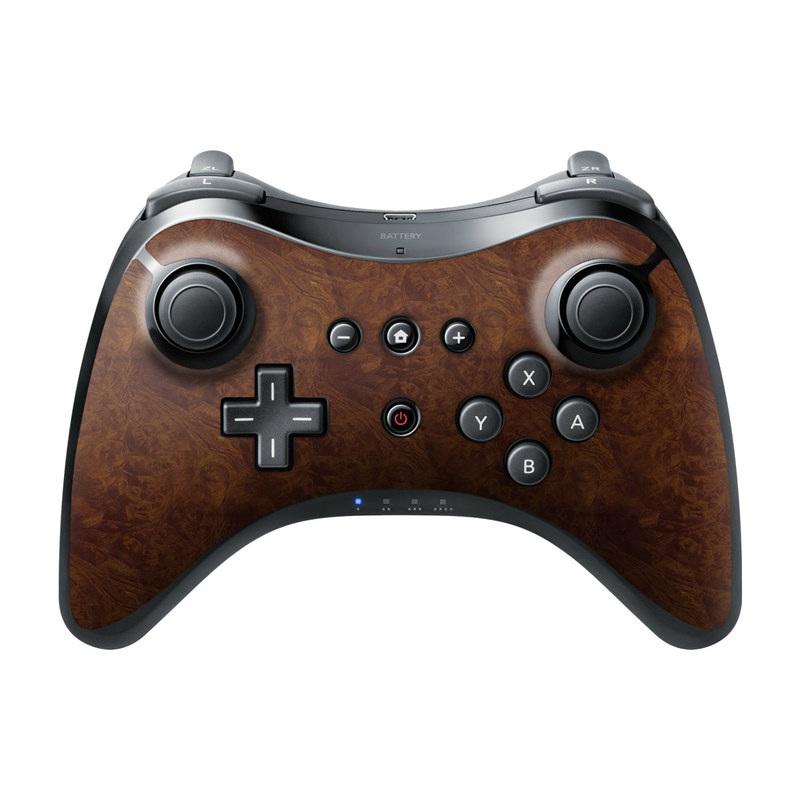 Dark Burlwood Wii U Pro Controller Skin