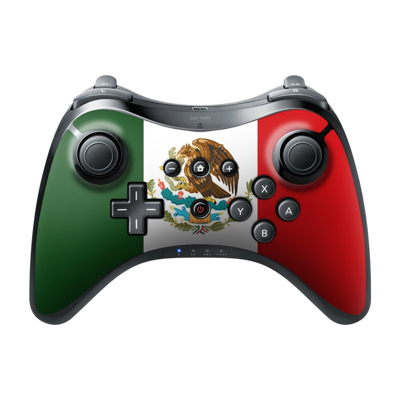Mexican Flag Wii U Pro Controller Skin
