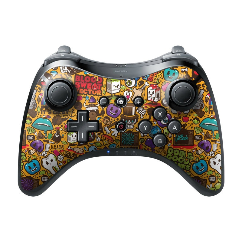 Psychedelic Wii U Pro Controller Skin