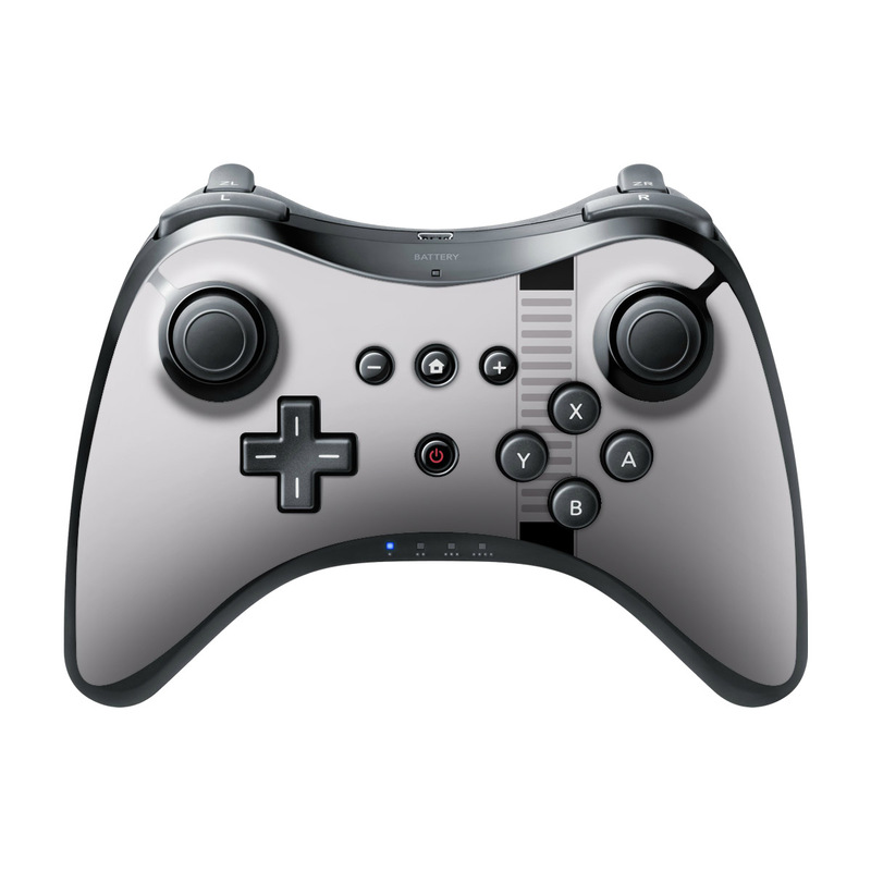 Wii U Pro Controller Skin design of Text, Font, Red, Product, Logo, Brand, Material property, Graphics, Rectangle with gray, black, red colors