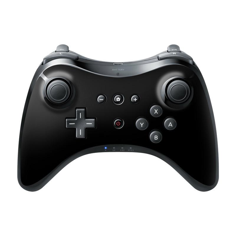 Solid State Black Wii U Pro Controller Skin