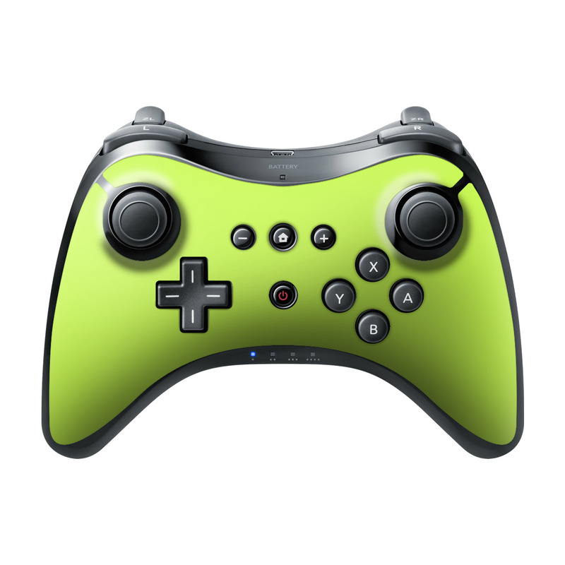 Solid State Lime Wii U Pro Controller Skin