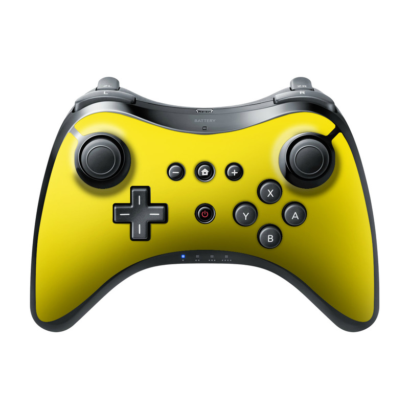 Solid State Yellow Wii U Pro Controller Skin