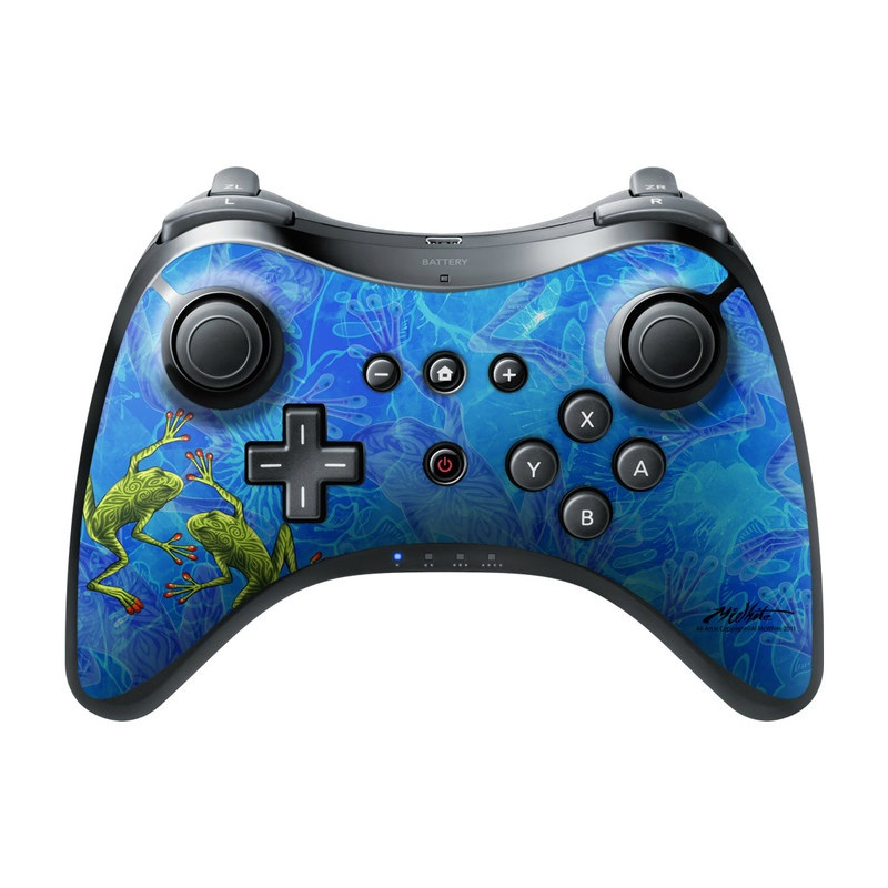 Tiger Frogs Wii U Pro Controller Skin
